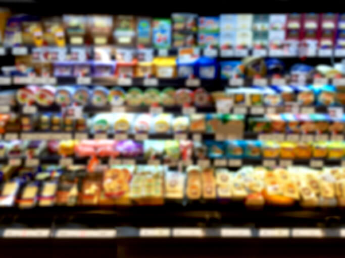 Products at grocery store