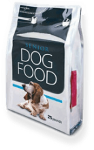 Dog food package